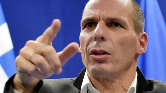 Greece's Finance Minister Yanis Varoufakis