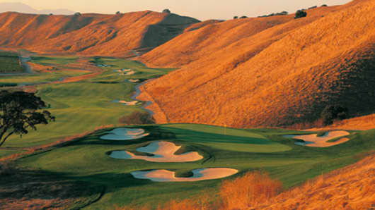 The 7th hole at the Course at Wente Vineyards in Livermore, California, which opened in 1998