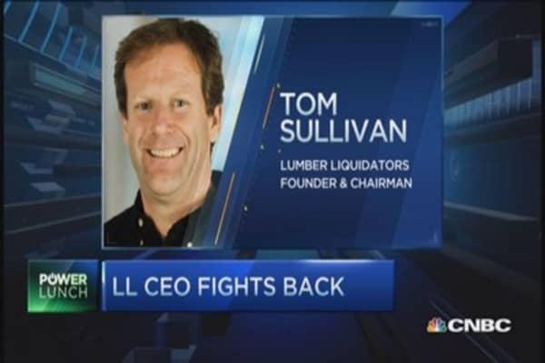 Lumber Liquidators shares plummet