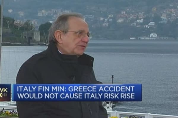 Greece poses no risk to Italy: Fin Min