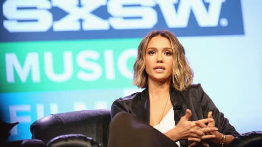 Actress Jessica Alba speaks at 'Inc. Presents: The Honest Company' during the 2015 SXSW Music, Film + Interactive Festival at the Austin Convention Center on March 15, 2015 in Austin, Texas.