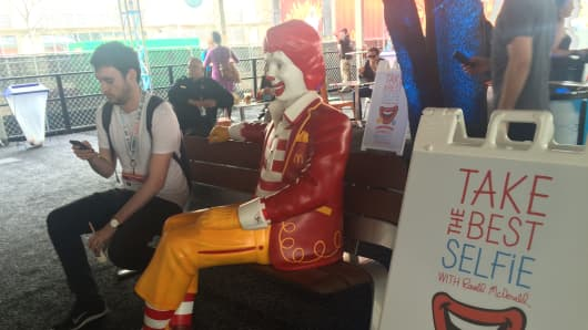 McDonald's had a prominent presence at this year's SXSW in Austin, Texas.