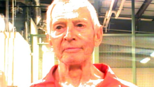 In this handout provided by the Orleans Parish Sheriffs Office, OPSO, Robert Durst poses for a mugshot photo after being arrested and detained March 14, 2015 in New Orleans, Louisiana.