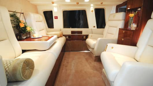Interior Of Donald Trumpu0027s Private Helicopter.