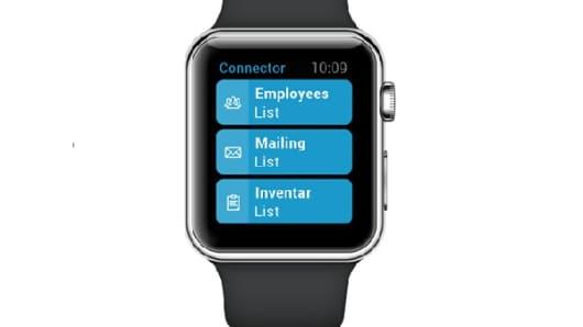 EBF Connector app on the Apple Watch