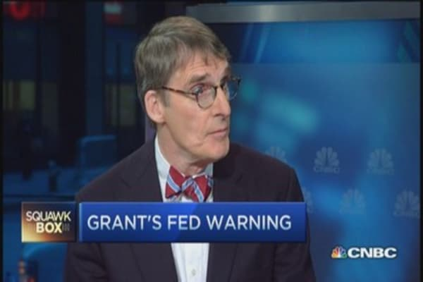 Odds against Fed getting it right: Jim Grant