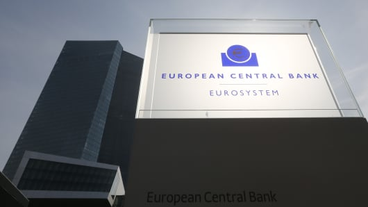 The new ECB headquarters in Frankfurt, Germany.