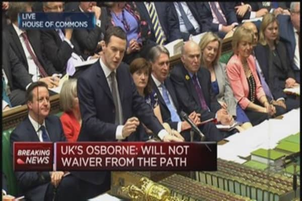 'Britain is walking tall again': Osborne