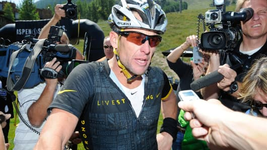 Lance Armstrong in 2012