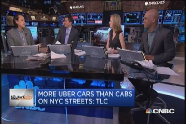 More Uber cars than taxis