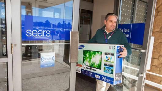 A shopper at Sears