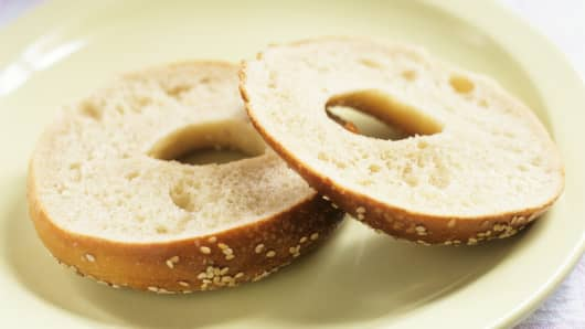 Sliced bagel