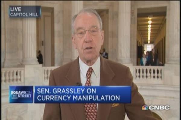 Sen. Grassley on currency manipulation