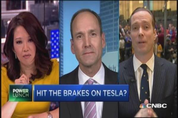 Tesla: Time to hit the brakes?
