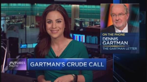 Something shocking is about to happen to crude: Gartman