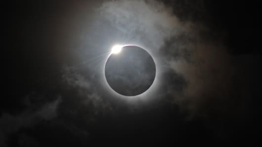 Solar eclipse in Australia, November 14, 2012