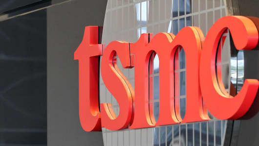 The Taiwan Semiconductor Manufacturing Co. (TSMC) logo