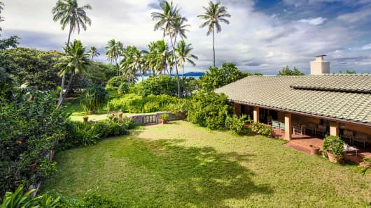 "This undated photo shows a home in Waimanalo, Hawaii, once used for the filming of the 1980s television show ""Magnum, P.I."""
