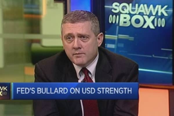 Fed's Bullard: US must beware 'asset price bubbles'