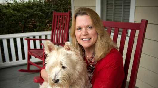 Debra Shelton, retired and living in Jacksonville FL, with Sophia, her cherished West Highland Terrier.