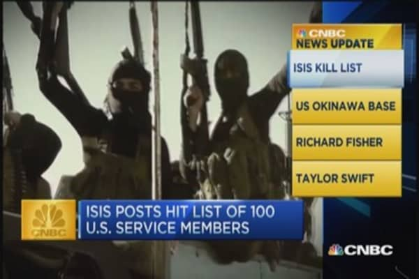 CNBC update: ISIS hit list