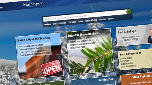 Maine.gov website