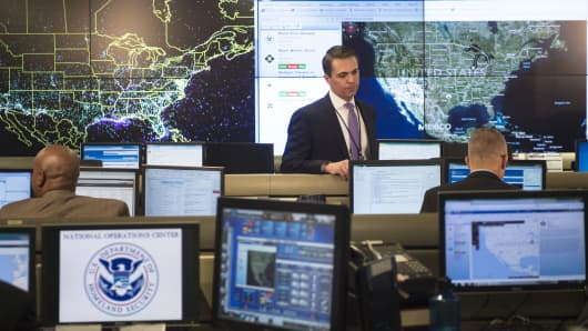 The National Operations Center at the Department of Homeland Security in Washington.