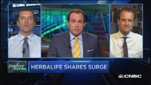 Trading Nation: Herbalife shares surge