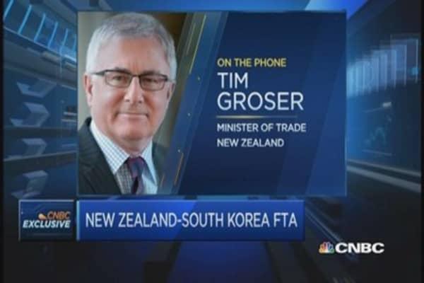 New Zealand, South Korea inks trade pact