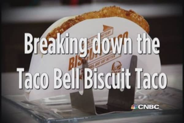 Breaking down the Taco Bell biscuit taco