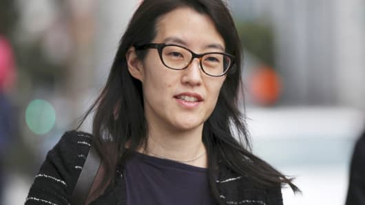 Ellen Pao arrives at San Francisco Superior Court, March 24, 2015.