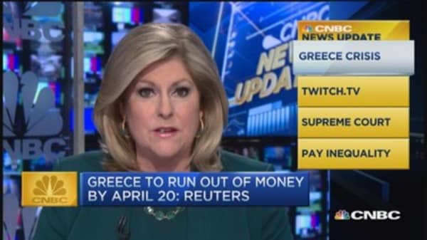 Before noon: Greece to run out of money?