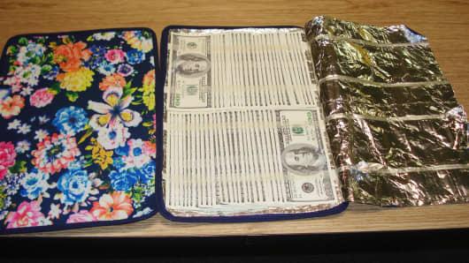 Counterfeit money seized at JFK airport
