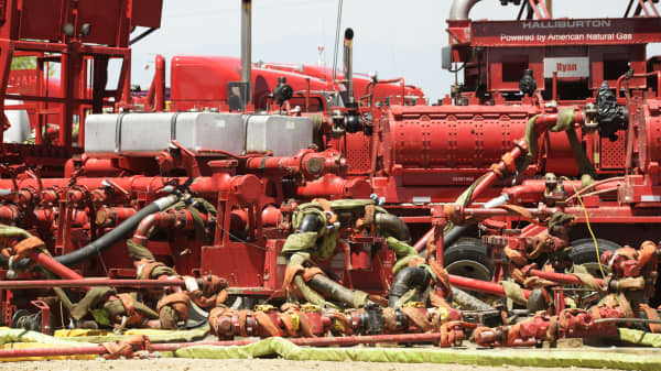 Fracking equipment at an Anadarko Petroleum site near Brighton in northern Colorado.