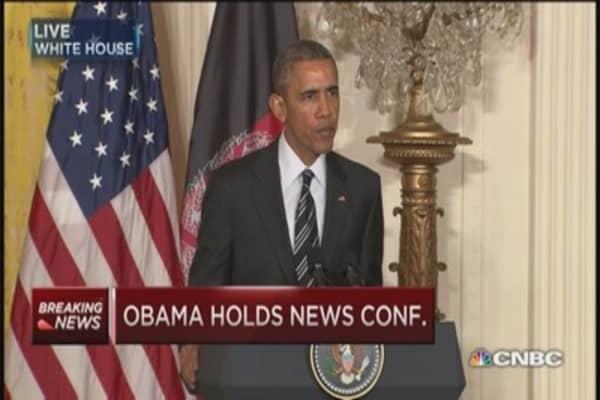 Pres. Obama & Afghan pres. hold press conference
