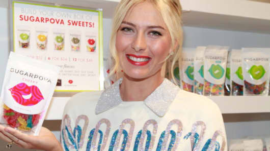 Tennis star Maria Sharapova attends a Sugarpova Launch