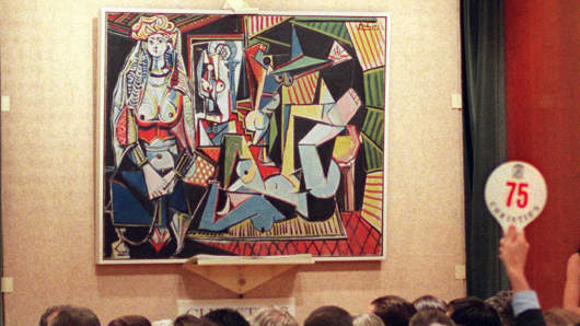 Picasso's Women of Algiers Version 'O' is up for auction at Christie's.