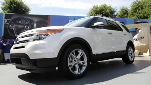 2011 Ford Explorer sport utility vehicle (SUV).