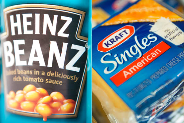 Heinz and Kraft Foods to merge.