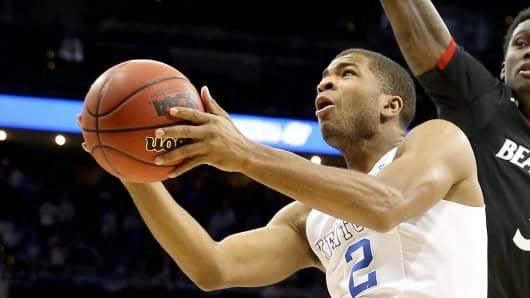 Aaron Harrison of the Kentucky Wildcats