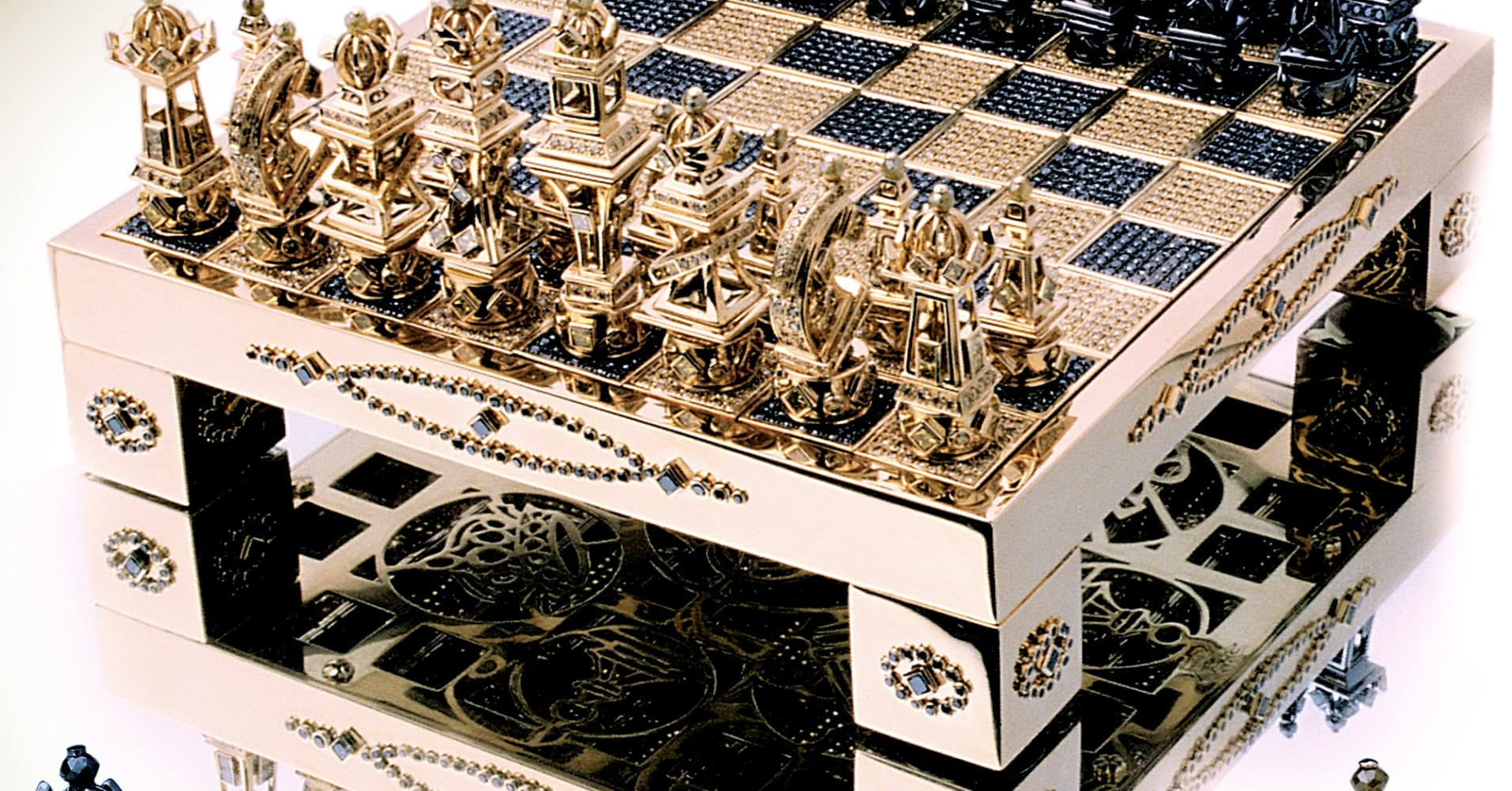 Gold firms as greece fears pressure global stock markets - Most expensive chess board ...
