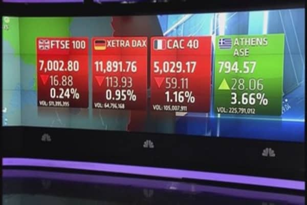 Europe finishes sharply lower as technology weighs