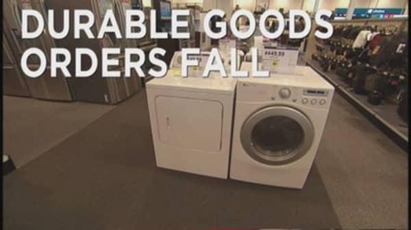 Decline in Durable Goods orders