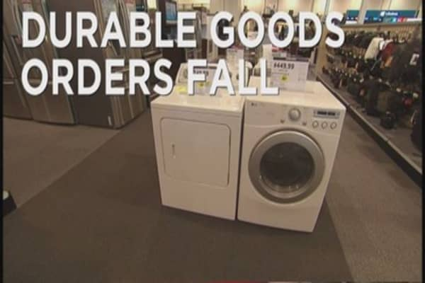 Decline in Durable Goods orders