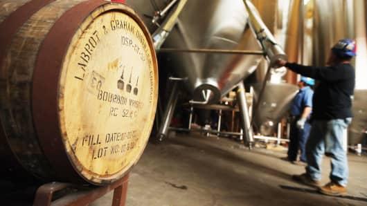 Inside the Brooklyn Brewery, maker of Brooklyn beers.