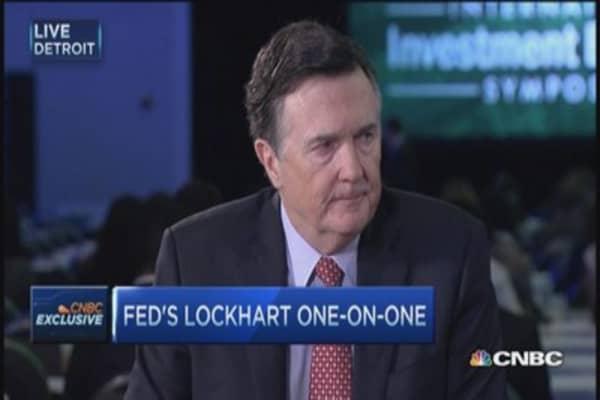 Fed Pres. Lockhart: Economy sending 'mixed signals'
