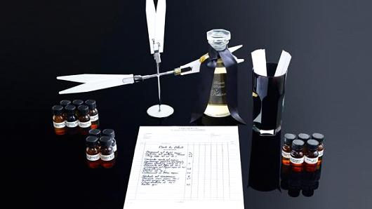 Perfumer Kilian Hennessy helps the super rich create their own custom scent. Once it's created, the perfume is bottled and packaged on a bed of satin in a lacquered box with its own key.