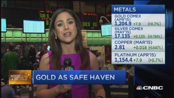 Metals close: Gold's move higher