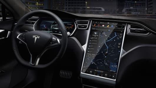 Tesla Model S dashboard