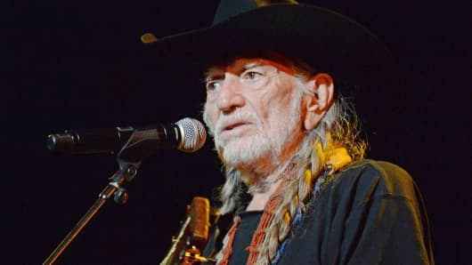 Willie Nelson performs at the MusiCares 2015 Person Of The Year gala honoring Bob Dylan in Los Angeles, Feb. 6, 2015.